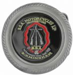 BSA Logo in Tyre Belt Buckle with display stand. Code LE7